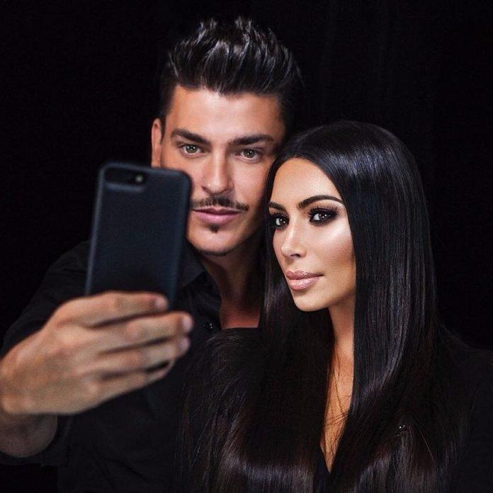 maquillaje de ojos ahumados de Kim Kardashian