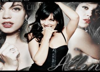 Lily Allen muy feliz