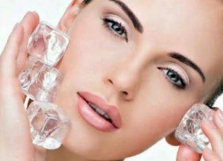 El hielo para el rostro, beneficios
