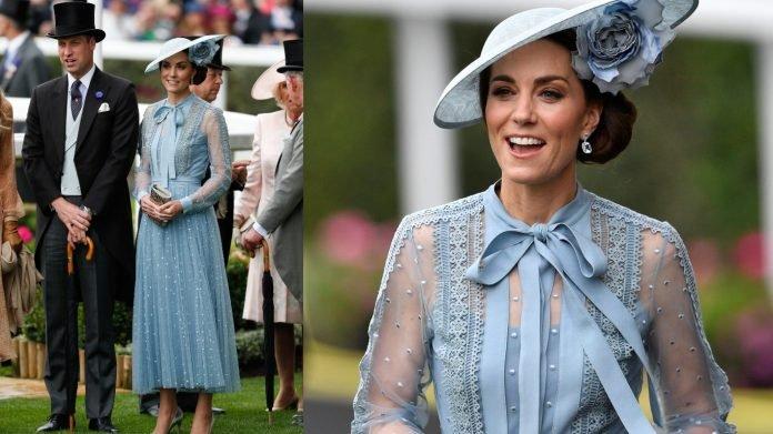 Este look de transparencias que Kate Middleton sin miedo llevó al Royal Ascot