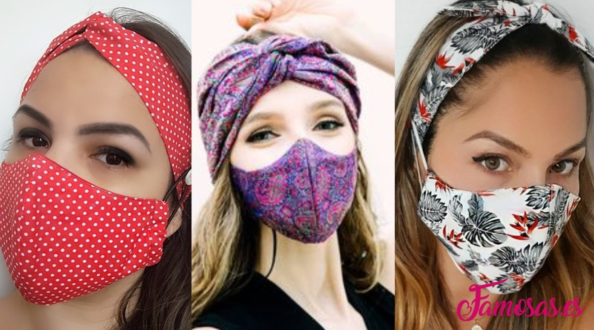 Mascarillas con turbante o cintillo