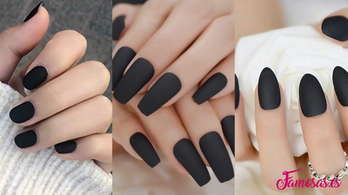 manicura en color negro