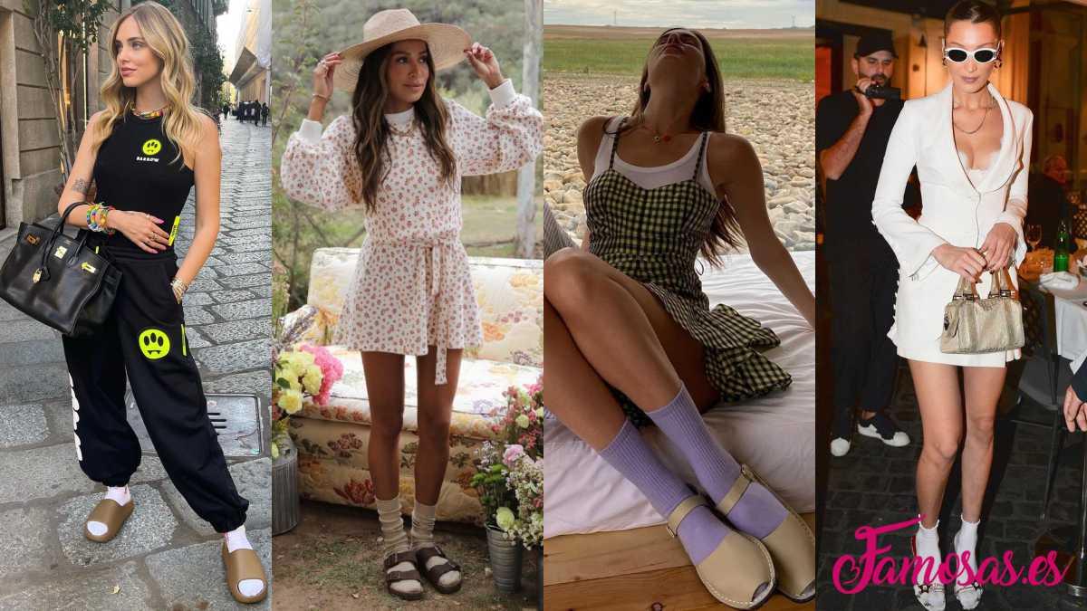 calcetines con sandalias famosas